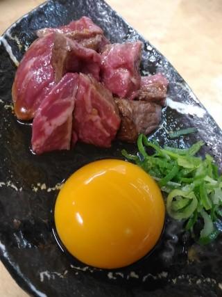 和 和牛タタキのタレ漬け(350円)