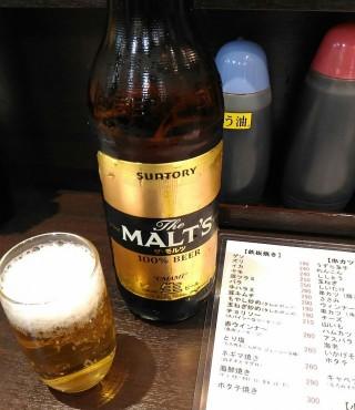 七津屋 モルツ大瓶(金曜日は350円→330円)