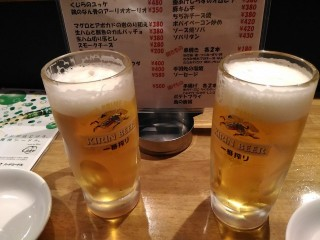 Gonta20160109 キリン一番搾り生ビール(190円)