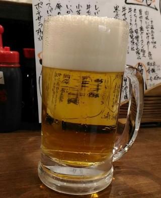 徳田酒店 生ビール(390円 500ml)