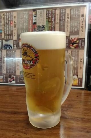 まきし亭 生ビール(290円 税込み)
