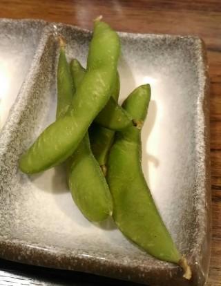 まきし亭 ワンコインセットの枝豆
