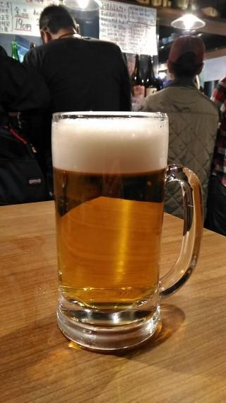 徳田酒店第3ビルB2店 生ビール(390円→190円)