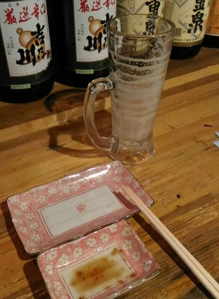 立ち呑みBAR RIKI 生ビールジョッキのエンジェルリング