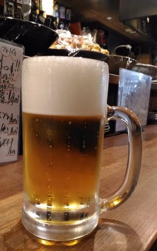 徳田酒店 生ビールプレミアムモルツ(390円→190円)
