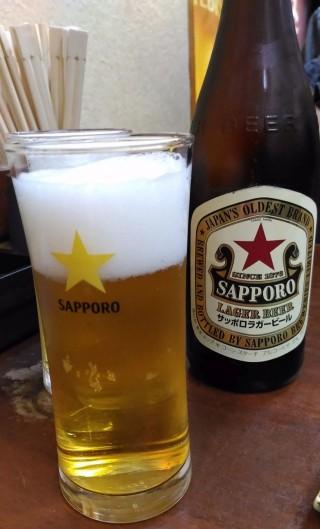 大安 ビール中瓶(480円)