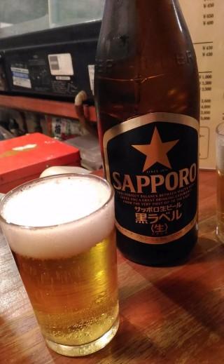 肴や ビール中瓶(430円)