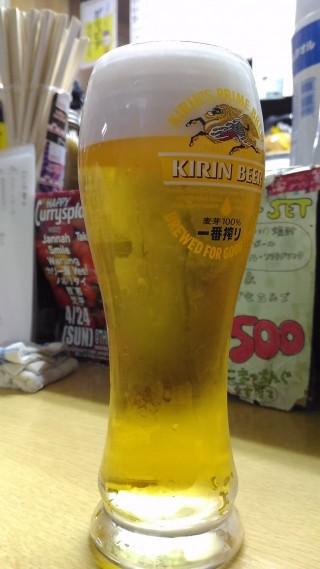 こまちゃん 生ビール(400円)